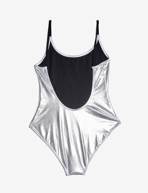 Shiny silver swimsuit
