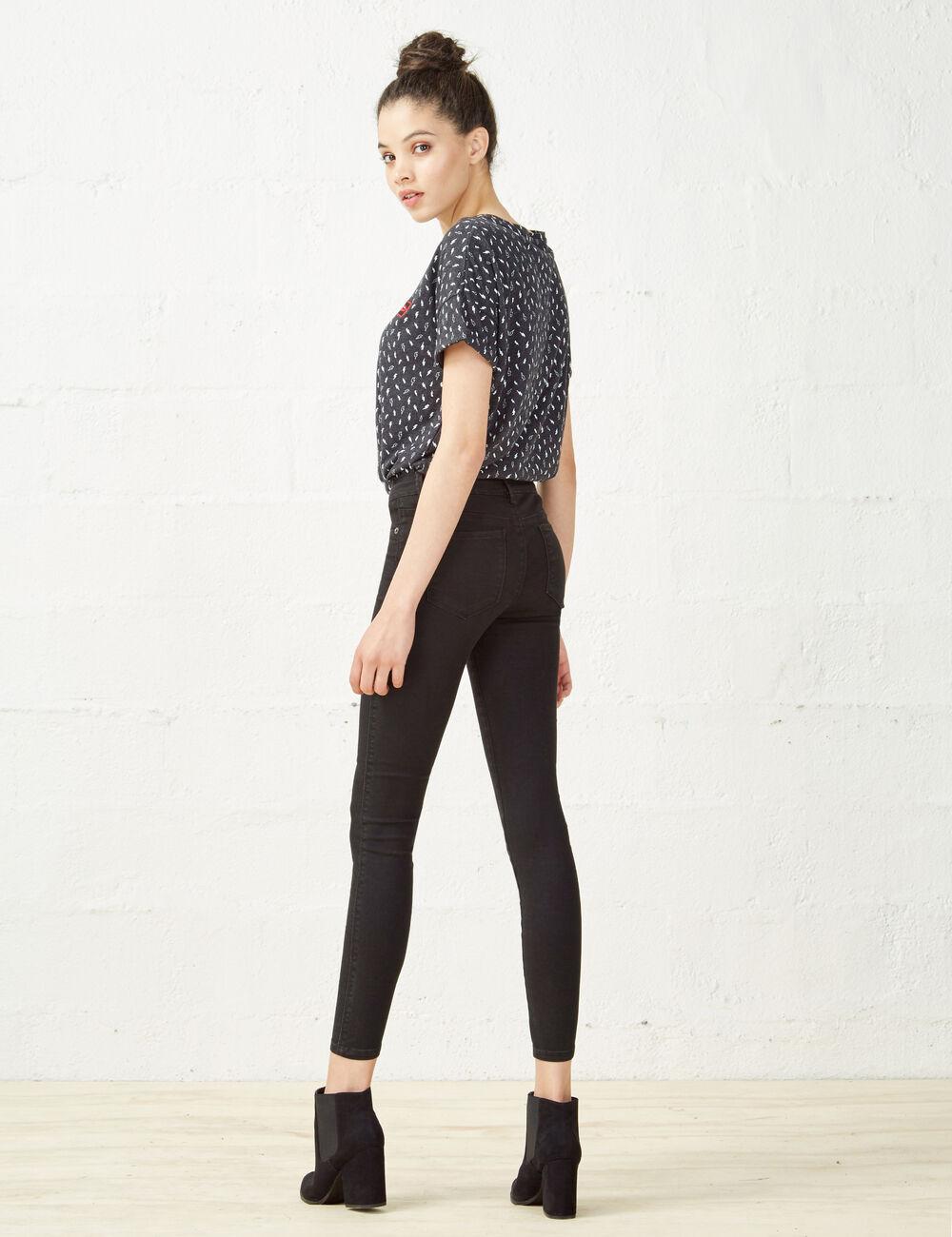 pantalon skinny taille basse noir femme jennyfer. Black Bedroom Furniture Sets. Home Design Ideas