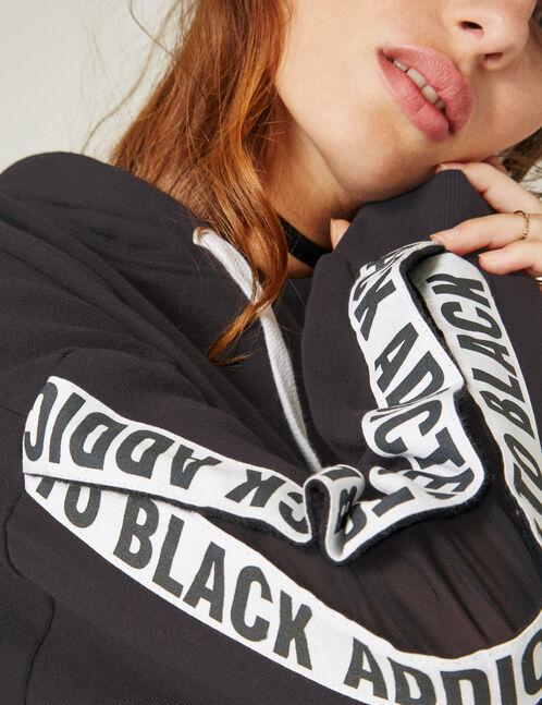 sweat manches ouvertes noir