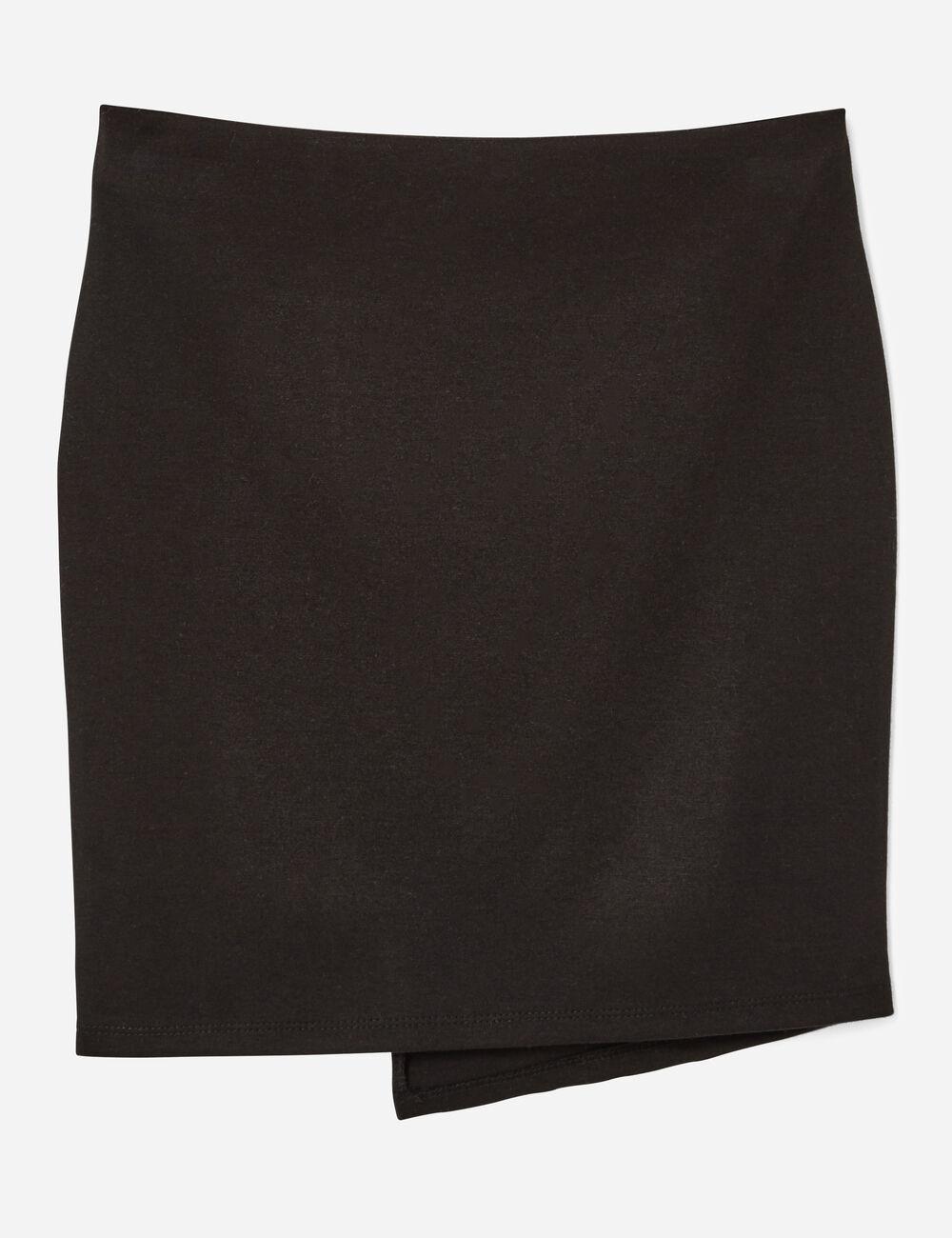 jupe tube asym trique noire femme jennyfer. Black Bedroom Furniture Sets. Home Design Ideas