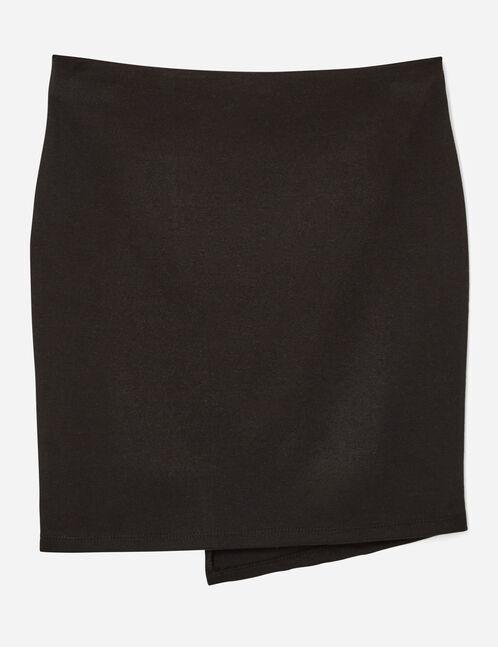 jupe tube asymétrique noire