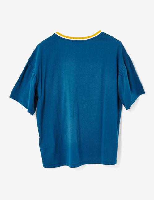tee-shirt love bleu