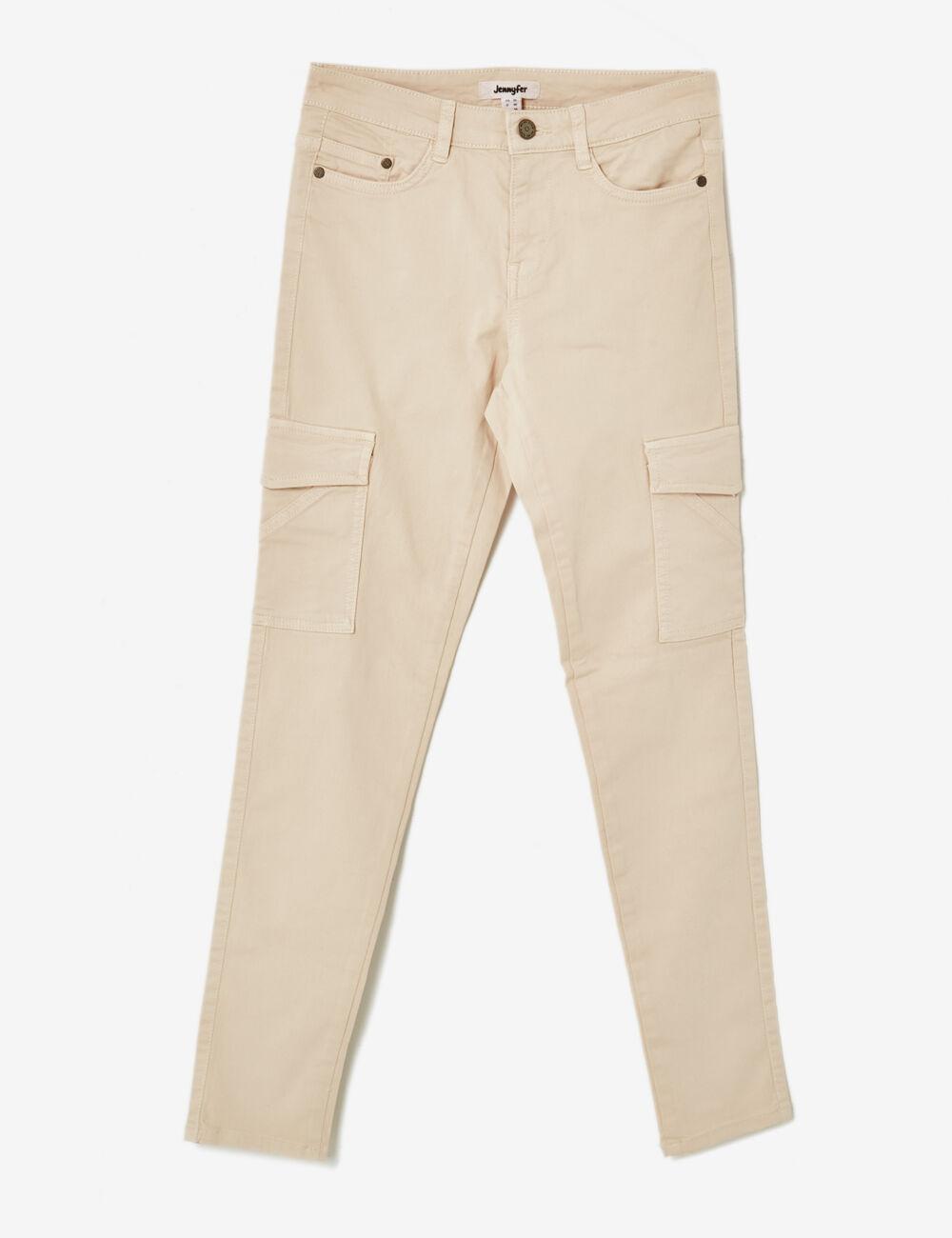 pantalon cargo poches beige femme jennyfer. Black Bedroom Furniture Sets. Home Design Ideas