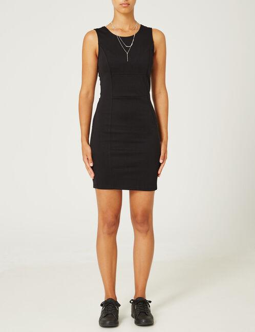robe tube dos croisé noire