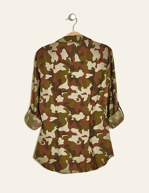 chemisier basic camouflage kaki