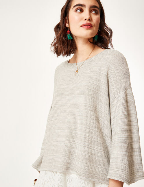 Grey marl lightweight jumper