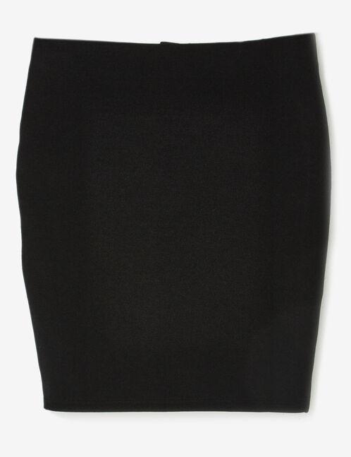 Black textured tube skirt