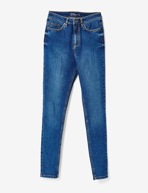 jean skinny taille haute medium blue