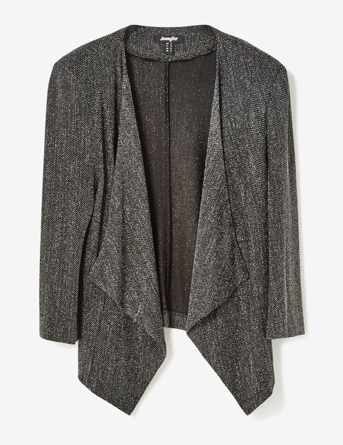 Black and silver jacket with lurex detail