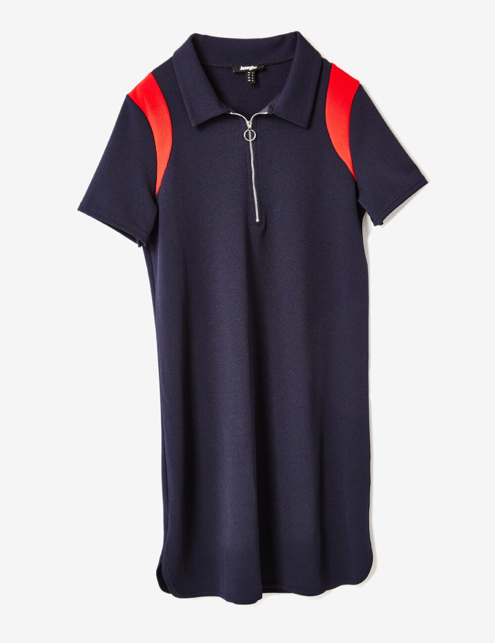 robe polo bleu marine et rouge femme jennyfer. Black Bedroom Furniture Sets. Home Design Ideas