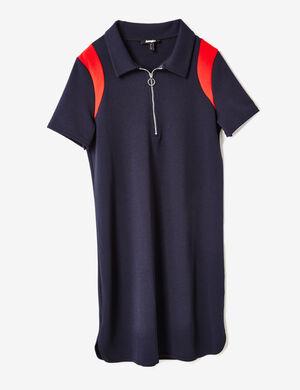 robe polo bleu marine et rouge