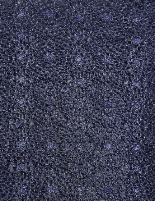 robe dentelle sans manches bleu marine