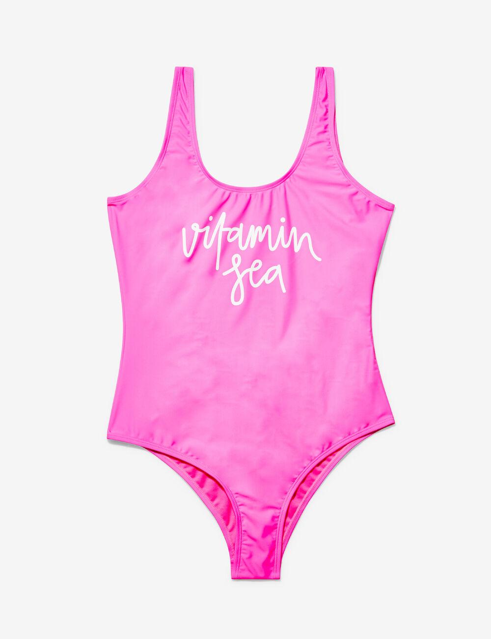 maillot de bain vitamin sea rose fluo femme jennyfer. Black Bedroom Furniture Sets. Home Design Ideas