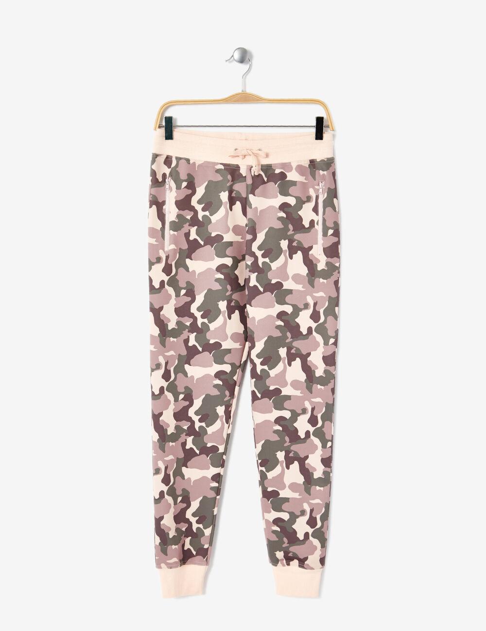 jogging n opr ne camouflage kaki et rose clair femme jennyfer. Black Bedroom Furniture Sets. Home Design Ideas
