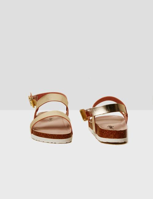 sandales à brides dorées