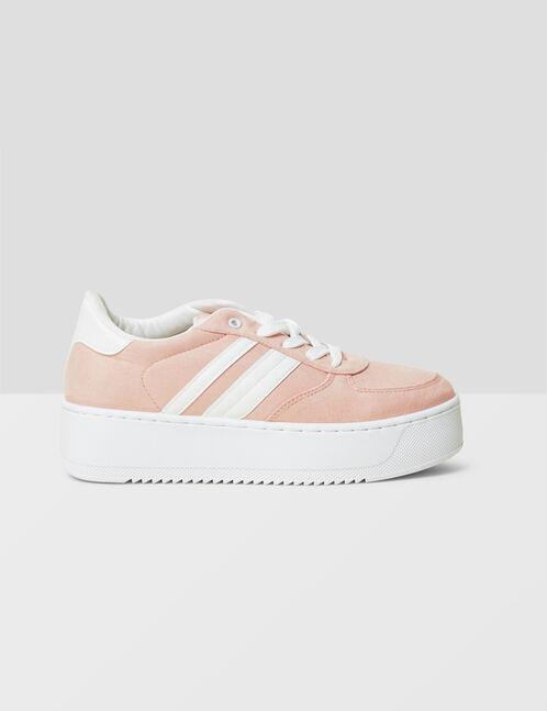 Light pink platform sole trainers