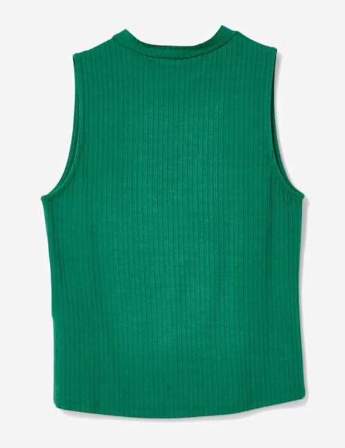 Green top with open detail