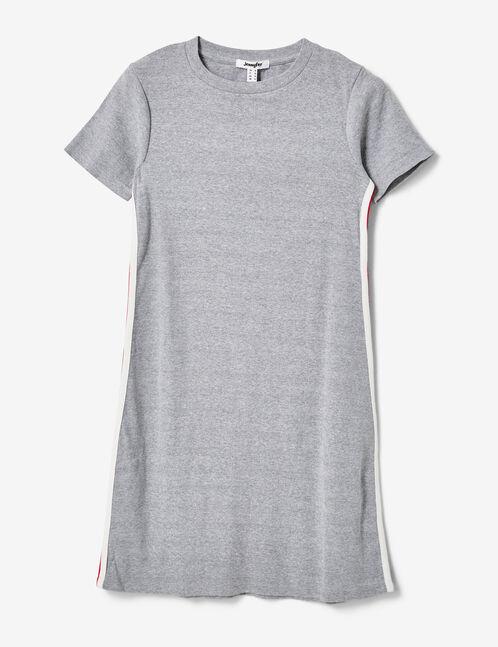 robe rayures côtés gris chiné