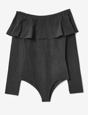 body épaules dénudées noir