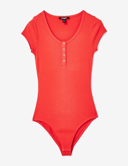 Basic red bodysuit