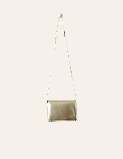 Small grey iridescent bag