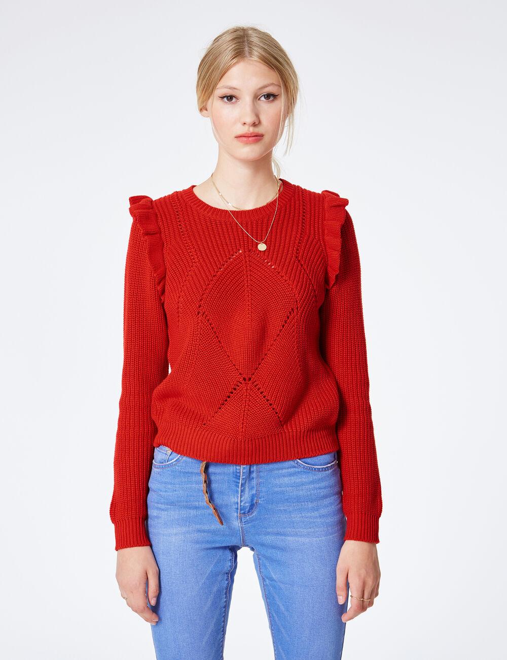 Pull over rouge femme La Redoute Retrouvez tous les articles Pull over rouge femme sur La Redoute. Dcouvrez notre slection: rayures, en tricot, en laine et cardigans. Love Moschino - Pull Gilet - Pull rouge .