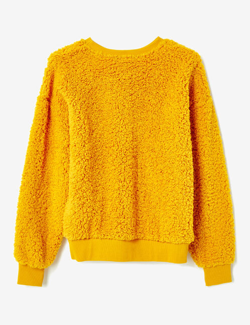 Ochre plush fleece sweatshirt