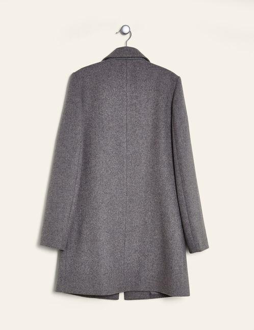 manteau revers gris chiné