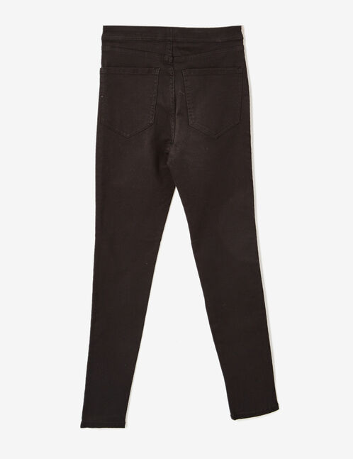 Black high-waisted trousers