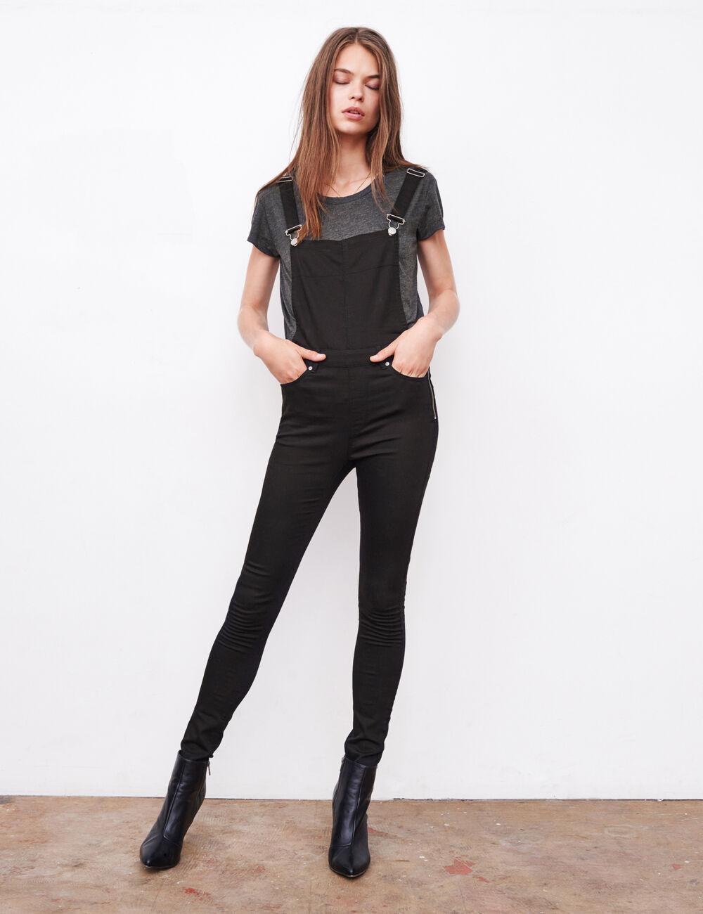 salopette taille haute noire femme jennyfer. Black Bedroom Furniture Sets. Home Design Ideas