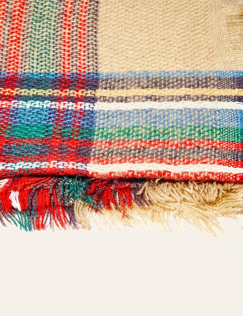 Multicoloured checked scarf
