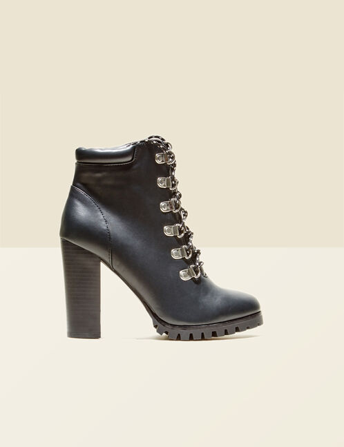 bottines montantes noires
