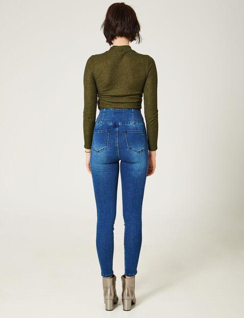 jean taille haute brut