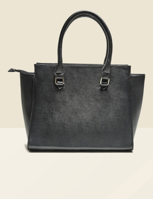 Striated effect tote bag