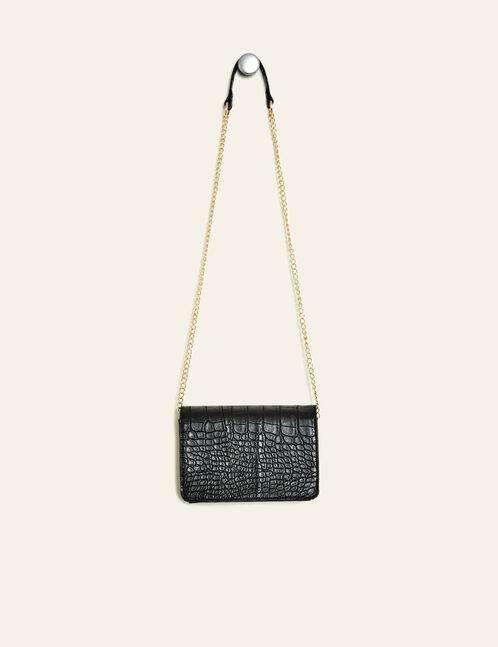 petit sac effet croco noir