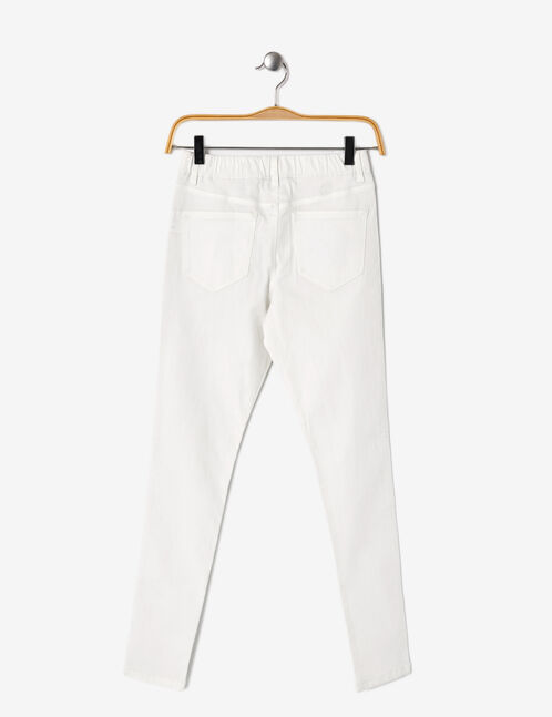 Cream jeggings with elasticated waist