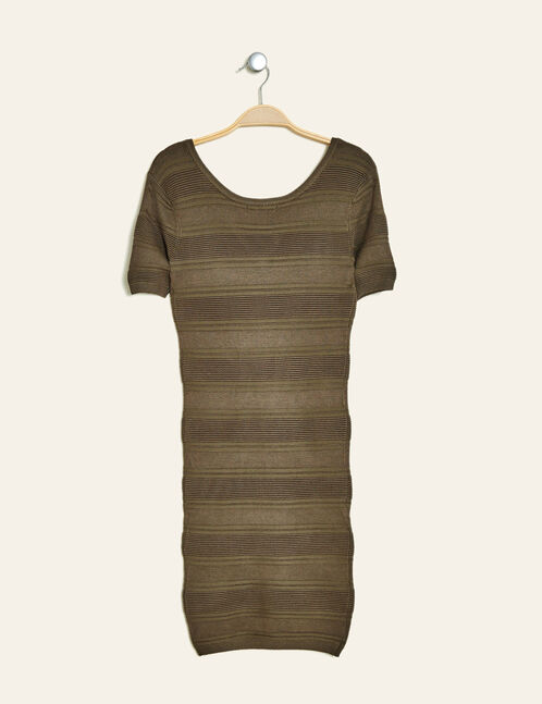 robe tube texturée kaki