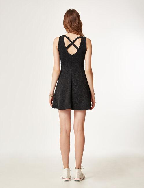robe texturée pailletée noire