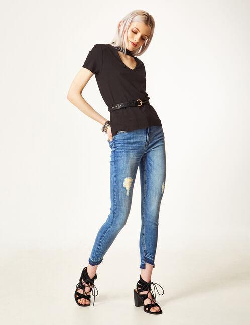 "Medium blue ""follow me"" skinny jeans"