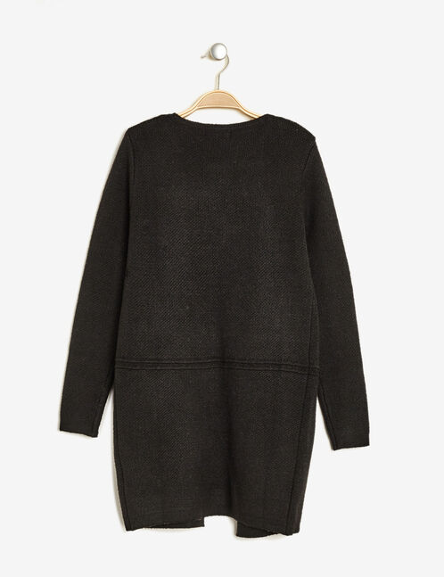 Black cardigan with patch detail