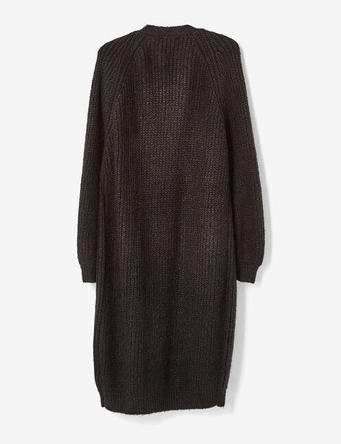 gilet long à poches noir