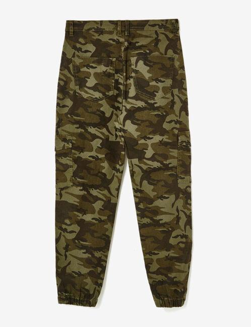 pantalon style baggy camouflage kaki