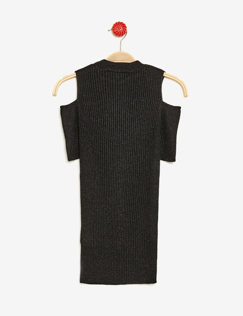 Black jumper with cut-out shoulders