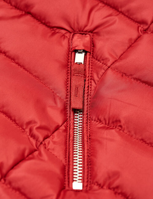 Red lightweight padded jacket