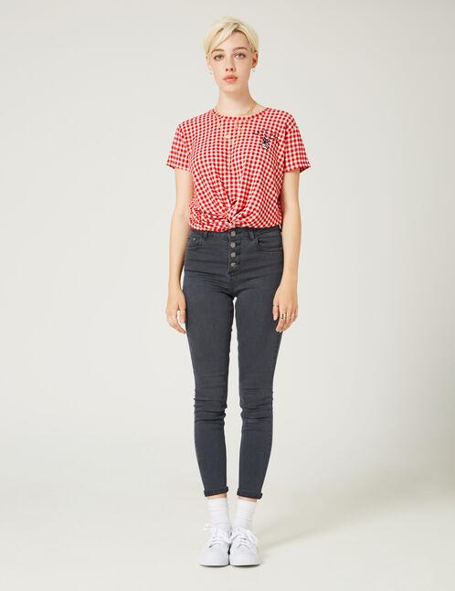 Black high-waisted skinny jeans