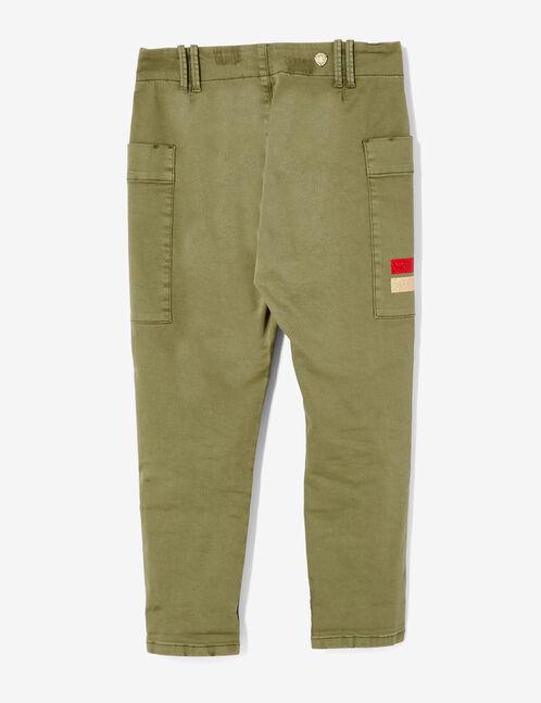 pantalon cargo à breloques kaki