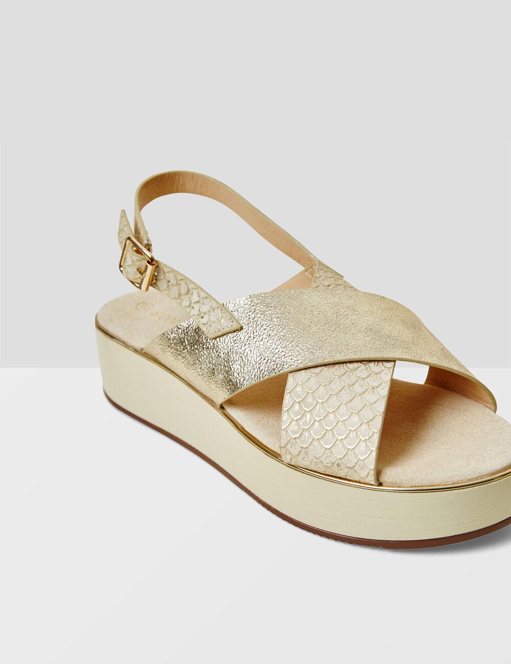sandales compens es dor es femme jennyfer. Black Bedroom Furniture Sets. Home Design Ideas