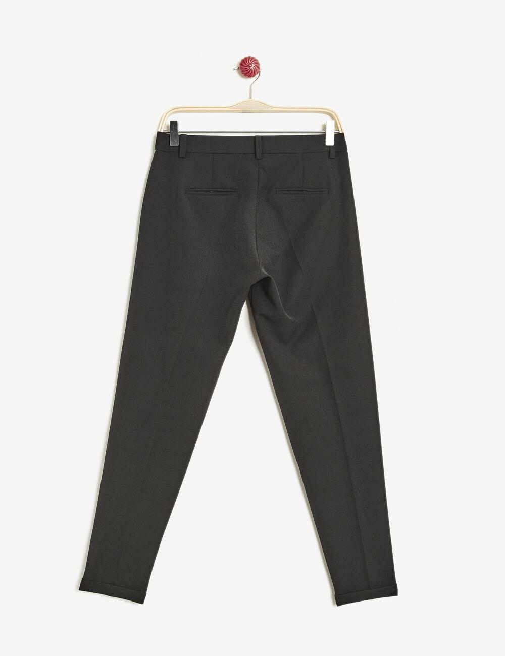 pantalon cigarette noir femme jennyfer. Black Bedroom Furniture Sets. Home Design Ideas