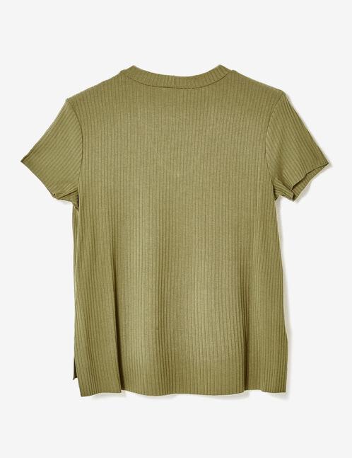 tee-shirt avec ouverture kaki