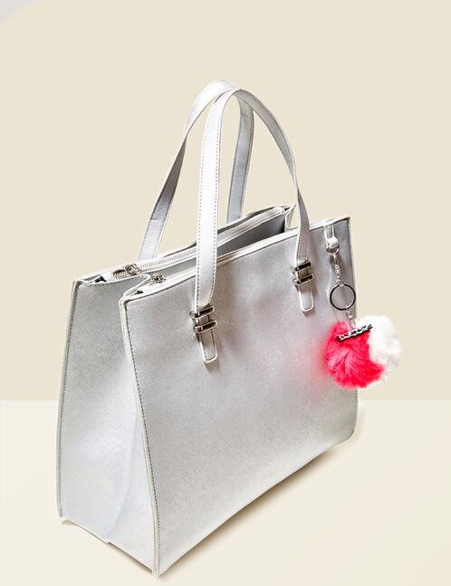 sac à main avec pompon argenté
